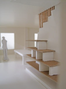 Stair model seen from position C