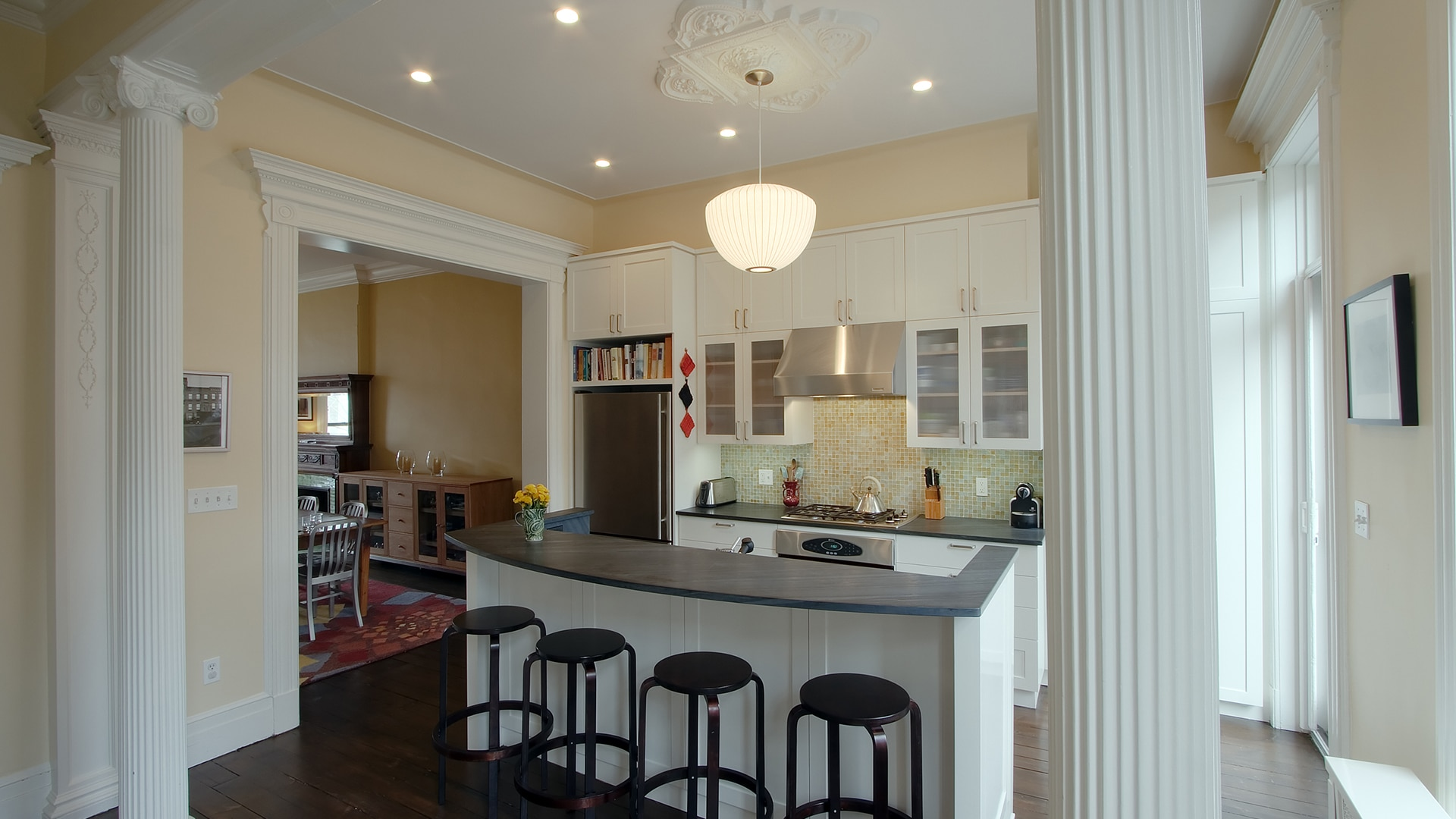 Greenwood heights townhouse ben herzog architect pc for Townhouse kitchen ideas