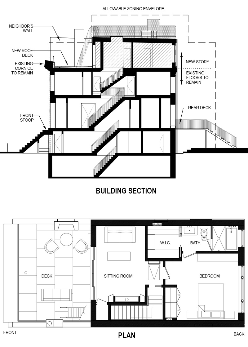Building Section and Floor Plan