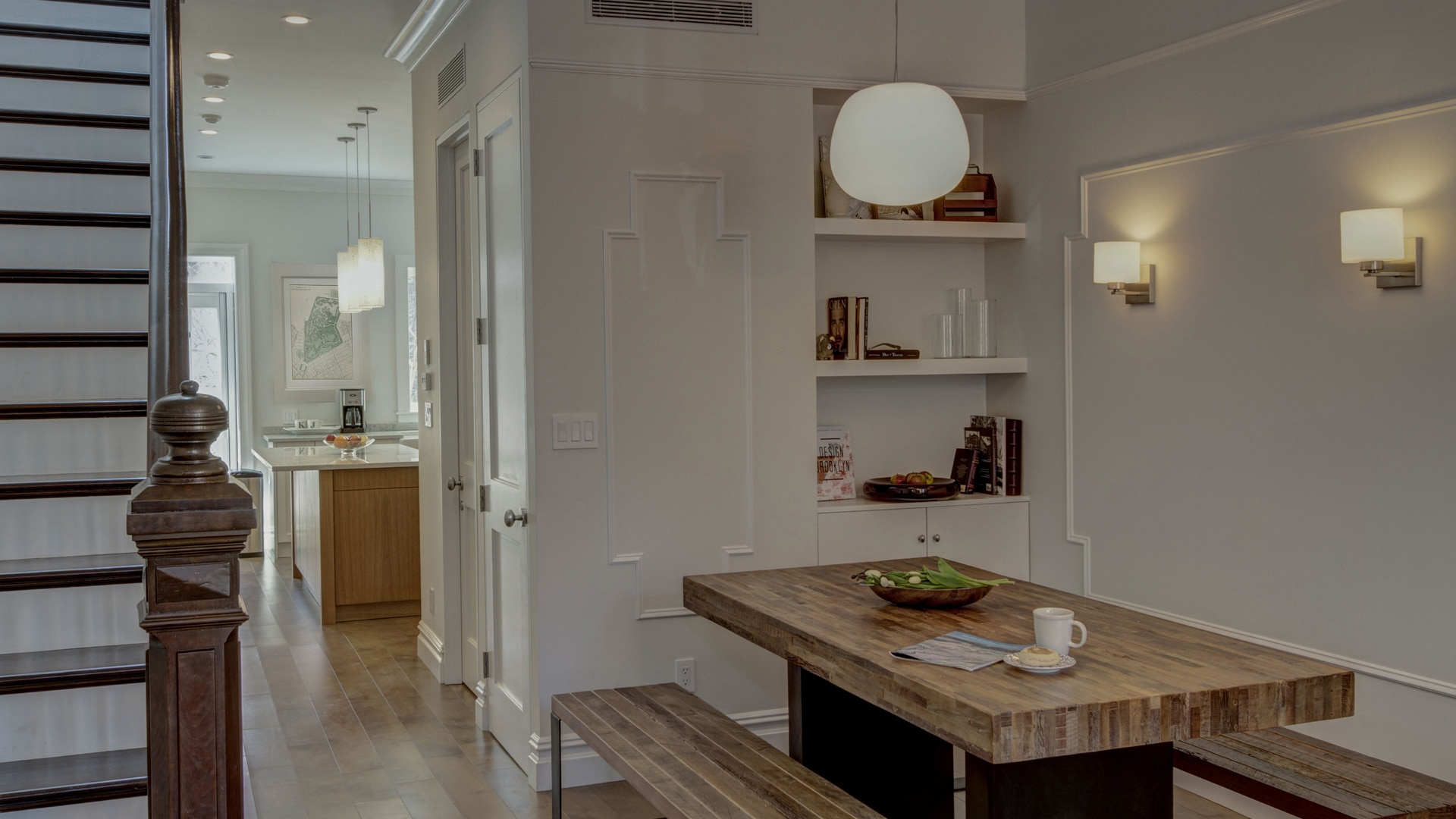 Park Slope Narrow Townhouse Dining Room